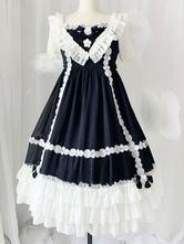 Vestido Lolita doce OP babados Lolita manga curta vestidos de uma peça