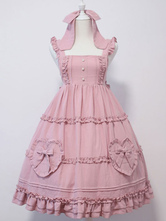Lolita doce JSK vestido arcos mangas babados Lolita Jumper saias