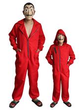 Carnaval Money Heist Cosplay Dali Red La Casa De Papel Cosplay Jumpsuit para niños