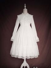 Lolita clássico vestido OP babados mangas compridas Lolita vestidos de uma peça