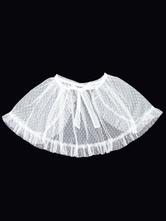 甘いロリータカバーアップホワイトネバーランドネットオーバースカート