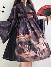 Kimono Lolita OP Dress Archi a maniche lunghe Lolita Abiti monopezzo