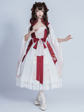 Chinese Style Lolita OP Dress Bows Long Sleeves Qi Lolita One Piece Dresses