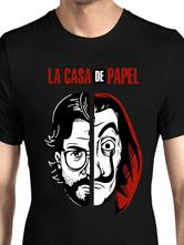 Halloween Geld Überfall T-Shirt Dali Rot La Casa De Papel Tee
