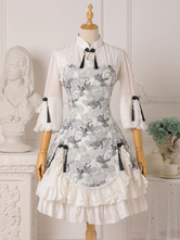 Chinese Style Lolita OP Dress Floral Print Qi Lolita One Piece Dresses