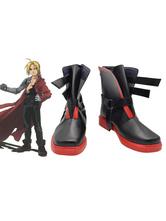 Fullmetal Alchemist Edward Elric Cosplay Costume Black Boots Halloween