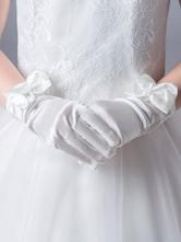 Accessori ragazza di fiore Accessori da sposa Guanti ragazza di fiore Archi in avorio per bambini