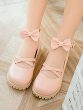 Sweet Lolita Footwear Bows Round Toe Criss Cross Lolita Shoes