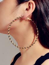 Pendientes de aro de declaración Woven Pierced Women Jewelry