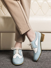 Women Oxfords Classic Round Toe Lace Up Leather Oxford Shoes