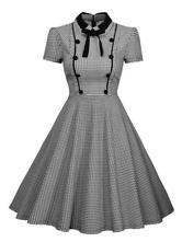 1950 Pin Up Girl Costume vestido vintage de manga curta