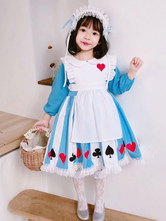 Alice In Wonderland Girl Dress Kids Lolita Dress And Headwear