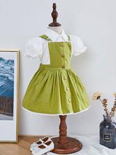 Детское платье в стиле лолиты, платье-сарафан и рубашка