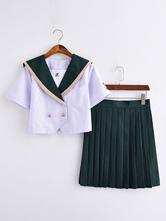 Uniforme scolaire Uniforme scolaire JK Outfit Marchandise Anime Polyester vert foncé