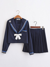 School Uniform School Uniform JK Outfit Dark Navy Cotton Anime Merchandise