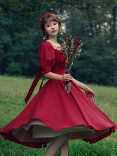 Classic Lolita OP Dress Cathighness Carol Manor Lolita One Piece Dresses