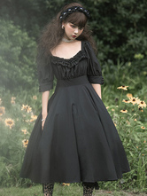 Gothic Lolita Dress OP Carol Manor Half Sleeve One Piece Lolita Dress