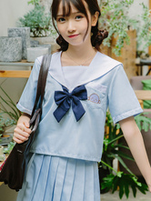 JK Outfit Uniforme scolastica Summer Baby Blue Polyester Anime Merchandise