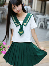 School Uniform JK Outfit School Uniform Dark Green Polyester Anime Merchandise