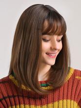 Длинный парик для женщин, коричневый, прямые термостойкие синтетические парики из синтетического волокна