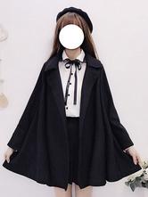 Sweet Lolita Cape Coats Black Overcoat Lolita Outwears