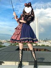 Idol Declaration Lolita JSK Dress Two Tone Plaid Lolita Jumper Skirts