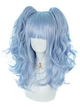 Parrucche Sweet Lolita Light Sky Blue 46cm-65cm Accessori Lolita in fibra resistente al calore