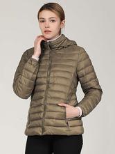 Women Puffer manteaux chaleur à capuche à capuche à capuchon à manches longues manches longues matelassées