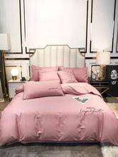 Ropa de cama de juego de 4 piezas Suministros algodón rosa Beddingroom