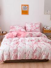 Juego de cama Chic 3 piezas Fibra de poliéster Rosa Moda Ropa de cama Suministros