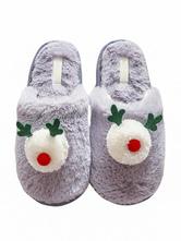 Boa pantoufles gris tricot laine supérieure bout fermé semelle en caoutchouc portable porte extérieure maison pantoufles chaussures