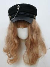 Gothic Lolita Hat Chains Polyester Black Lolita Accessories Hats