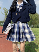 Academic Uniform Outfit School Uniform Dark Navy Polyester Anime Merchandise