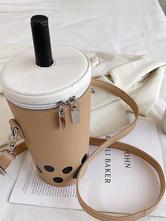 Sweet Lolita Bag Light Brown Leather Leather Cross-body Bag Lolita Accessories