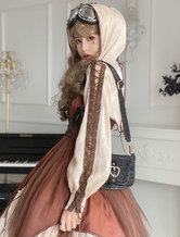 Lolitashow Pre-sale Steampunk Lolita Coats Overcoat Long Sleeve Winter Lolita Outwears
