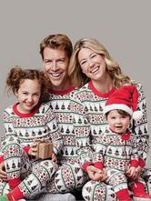 Disfraz Carnaval Navidad Pijamas un Juego de Familia Padre Rojo Impreso Top y Pantalones 2 Piezas Juego Para Hombres Carnaval Halloween