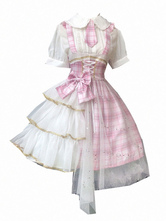 Sweet Lolita JSK Dress Idol Declaration Bows Pink Lolita Jumper Faldas