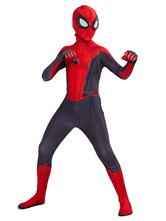 Marvel Comics Spider Man Far From Home Jumpsuit Kid Cosplay Costume Carnival