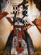 Chinese Style Lolita JSK DressTassels Black Lolita Jumper Skirts