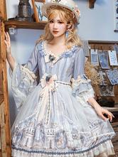 古典的なロリータOPドレス妖精序曲弓花ロリータワンピースドレス