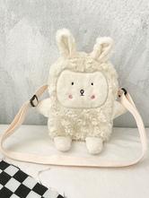 Sweet Lolita Bag White Short Plush Faux Suede Polyester Lolita Accessories