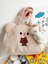Sweet Lolita Bag Ecru White Short Plush Faux Suede Lolita Accessories