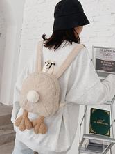 Sweet Lolita Bag Khaki Short Plush Faux Suede Polyester Lolita Accessories
