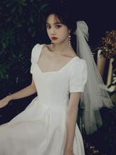 Veli da sposa Velo da sposa classico con fiocchi a un livello