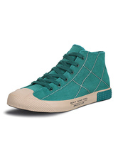 Mens Cyan Skateboard Shoes Low Top Sneakers