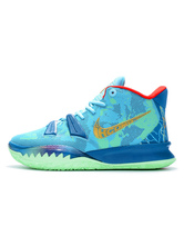 Mens Sneakers Mint Blue Cozy Mesh Round Toe Artwork Low-Tops Basketball Shoes