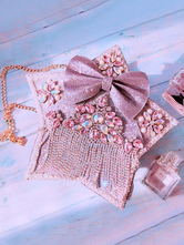 Sweet Lolita Bag Lavender Bows Lace Flowers Lolita Accessories Customize Shoulder Bag