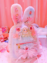 Sweet Pink Lolita Bunny Handbag Polyester Bows Lace Daily Casual Lolita Backpack