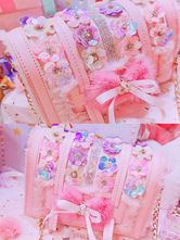 Sweet Lolita Handbag Bows Flowers PU Leather Daily Casual Lolita Shoulder Bag