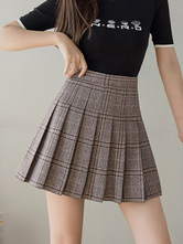 Sweet Lolita Skirt Tiered Khaki Polyester Summer Daily Casual Short Lolita Skirts